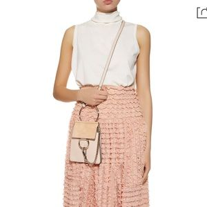 Authentic Chloe Faye bracelet bag cement pink
